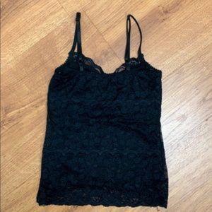 Women's WetSeal Black Lace Stylish Tank Top- SMALL